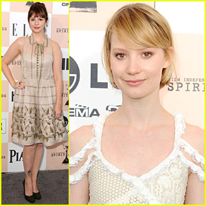 Mia Wasikowska & Amber Tamblyn - Spirit Awards 2011