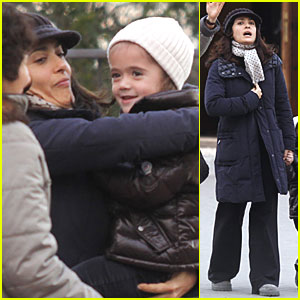 Salma Hayek: Stroll with Valentina &amp; Grandma!