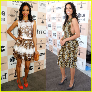 Zoe Saldana &#038; Rosario Dawson - Spirit Awards 2011