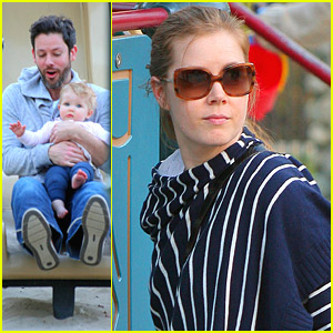 Amy Adams Plays In The Park With Aviana