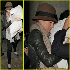 Blake Lively Lands with Her Pillow