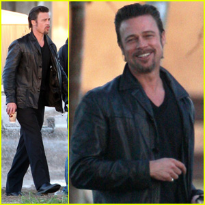Brad Pitt: Happy On Set of 'Cogan's Trade'