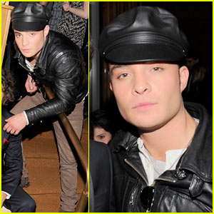 Ed Westwick: Leather Lad