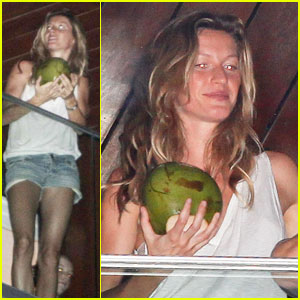 Gisele Bundchen: Coconut before Carnival!