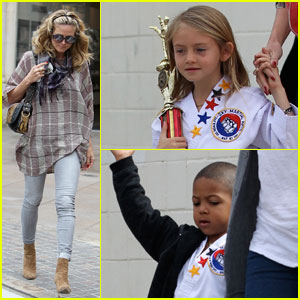 Heidi Klum Picks Up Her Karate Kids