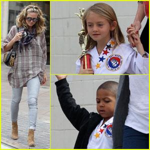Heidi Klum Picks Up Her Karate Kids