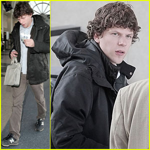 Jesse Eisenberg Jets Out of LAX