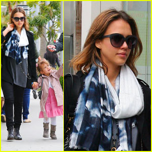 Jessica Alba: Nate N' Al With Cash & Honor