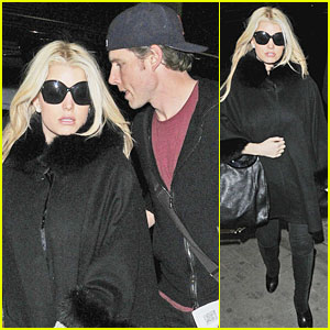 Jessica Simpson: Eurostar with Eric Johnson!