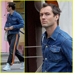 Jude Law Shows His Rainbow Stripes