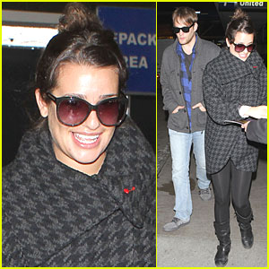 Lea Michele & Theo Stockman: LAX Lovebirds