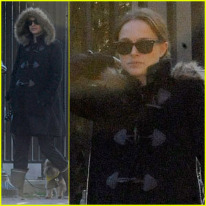 Natalie Portman Takes Whiz for a Walk