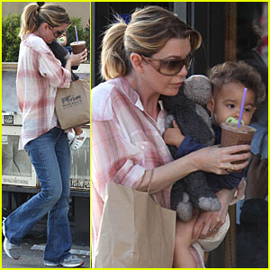 Ellen Pompeo: Coffee Bean with Stella!