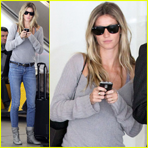 Gisele Bundchen Lands Back in Los Angeles!