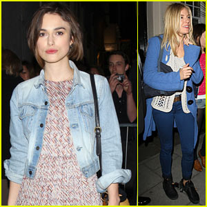 Keira Knightley &#038; Sienna Miller: Post-Performance Pics