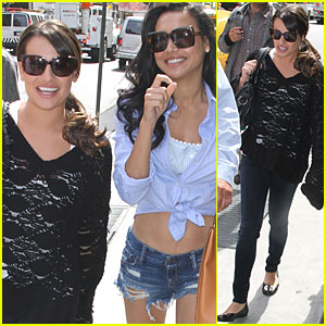 Lea Michele & Naya Rivera: NYC Lunch Break!