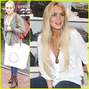 Lindsay Lohan: Singer22 Shopping Trip!