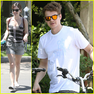 Rachel Bilson & Hayden Christensen: Bike Riding Duo