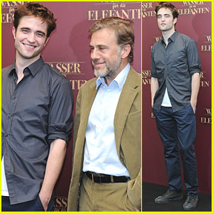 Robert Pattinson: 'Water for Elephants' Photo Call with Christoph Waltz!