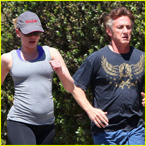 Sean Penn &#038; Scarlett Johannson: Jogging with Owen Wilson