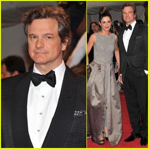 Colin Firth & Livia Giuggioli - MET Ball 2011