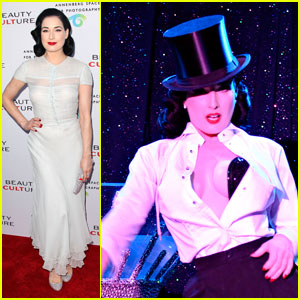 Dita Von Teese: Beauty Culture Opening & Strip Show!