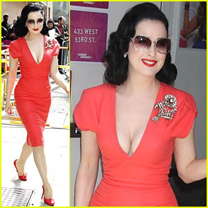 Dita Von Teese: Wendy Williams Show Visit!