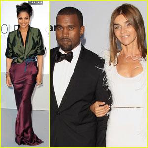 Janet Jackson & Kanye West: amfAR Gala!