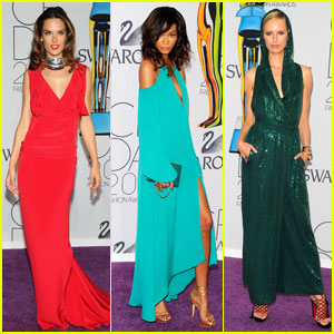 Alessandra Ambrosio & Chanel Iman - CFDA Fashion Awards 2011