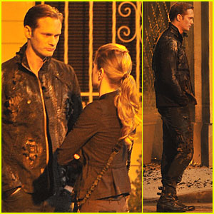 Alexander Skarsgard: Shooting Scenes with Deborah Ann Woll!