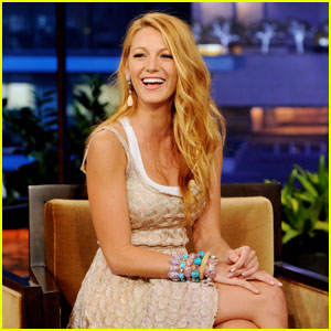 Blake Lively Offers Jay Leno Styling Advice