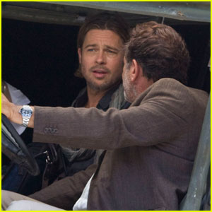 Brad Pitt: 'World War Z' Car Ride!