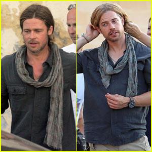 Brad Pitt: Zombie Stunt Double!