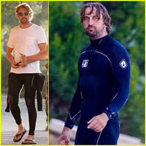 Gerard Butler: ATM Stop After Surfing!