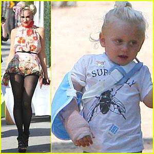 Gwen Stefani: Zuma Wears a Sling