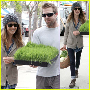 Maggie Q: Greens & Grass from Farmer's Market!