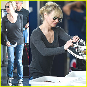 Renee Zellweger: Security Screening at LAX