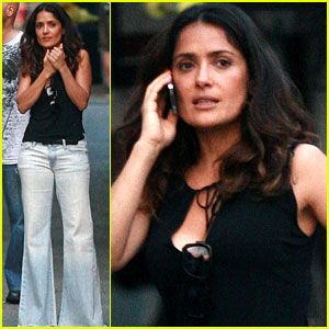 Salma Hayek: 'I Hate You Dad' Set Visit
