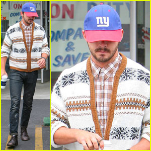 Shia LaBeouf: Snowflake Sweater!