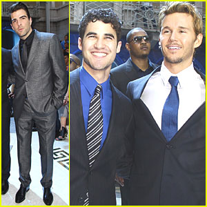 Zachary Quinto: Versace Fashion Show with Ryan Kwanten!