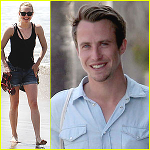 Amanda Seyfried Hits the Beach with a Guy Friend