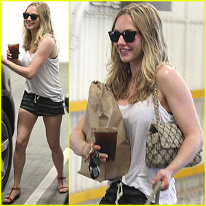 Amanda Seyfried & Finn Walk in West Hollywood