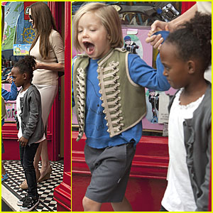 Angelina Jolie: Toy Store with Zahara & Shiloh!