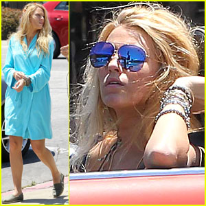 Blake Lively: Mini Cooper Scene for 'Savages'!
