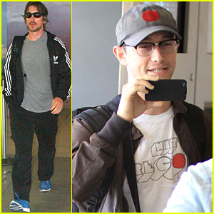 Christian Bale & Joseph Gordon-Levitt: LAX Liftoff