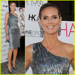 Heidi Klum: Hamptons Magazine Party!