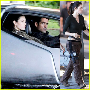 Jessica Biel &#038; Colin Farrell: 'Total Recall' Set!