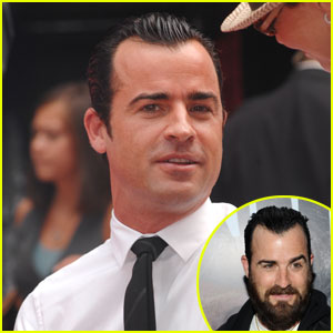 Justin Theroux Shaves His Beard