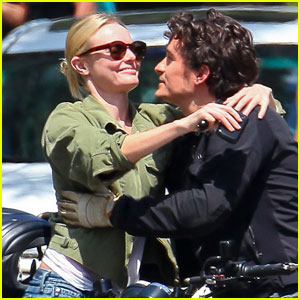Kate Bosworth & Orlando Bloom Hug in Hollywood