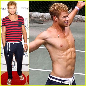Kellan Lutz: Shirtless at Fourth of July Party!